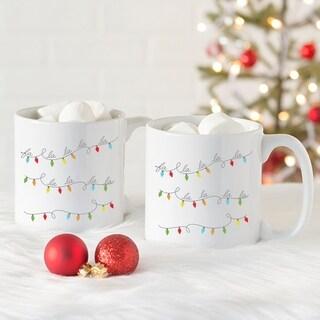 Fa La La 20 oz. Large Coffee Mugs (Set of 2)