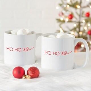 HO HO XO 20 oz. Large Coffee Mugs (Set of 2)