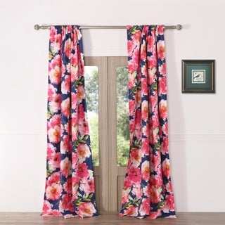 Barefoot Bungalow Peony Posy Curtain Panel Pair
