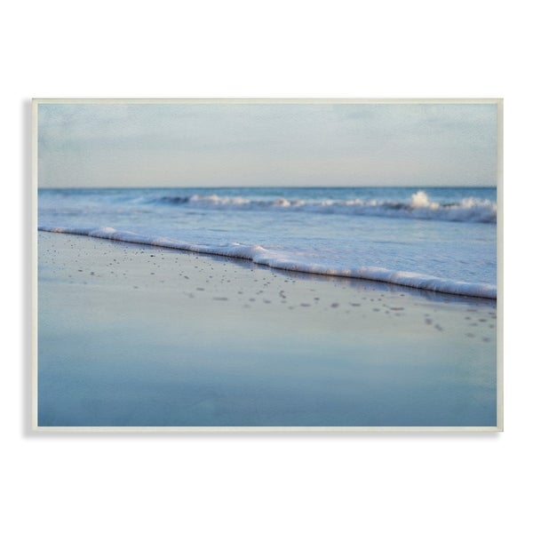 The Stupell Home Decor Collection Coastal Evening Beach Gentle Surf Photograph Wall Plaque 10