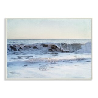 The Stupell Home Decor Collection Coastal Evening Beach Cresting Wave Photograph, Wall Plaque, 10 x 0.5 x 15, Made in USA