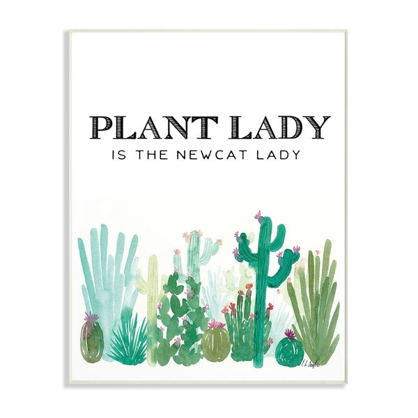 Shop The Stupell Home Decor Collection Plant Lady Cat Lady Pink And