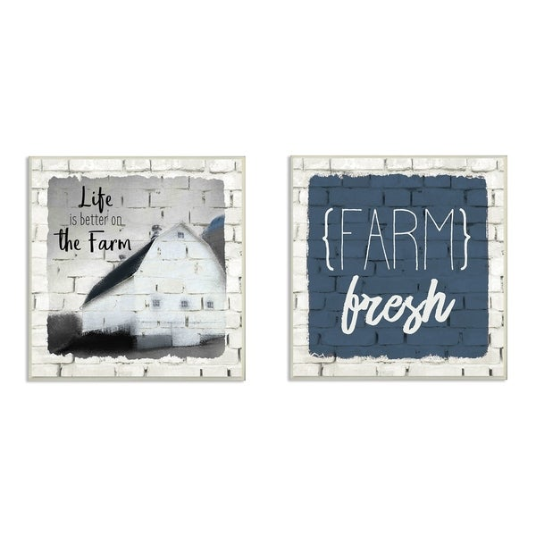 The Stupell Home Decor Collection Life is Better Farm Fresh White ...