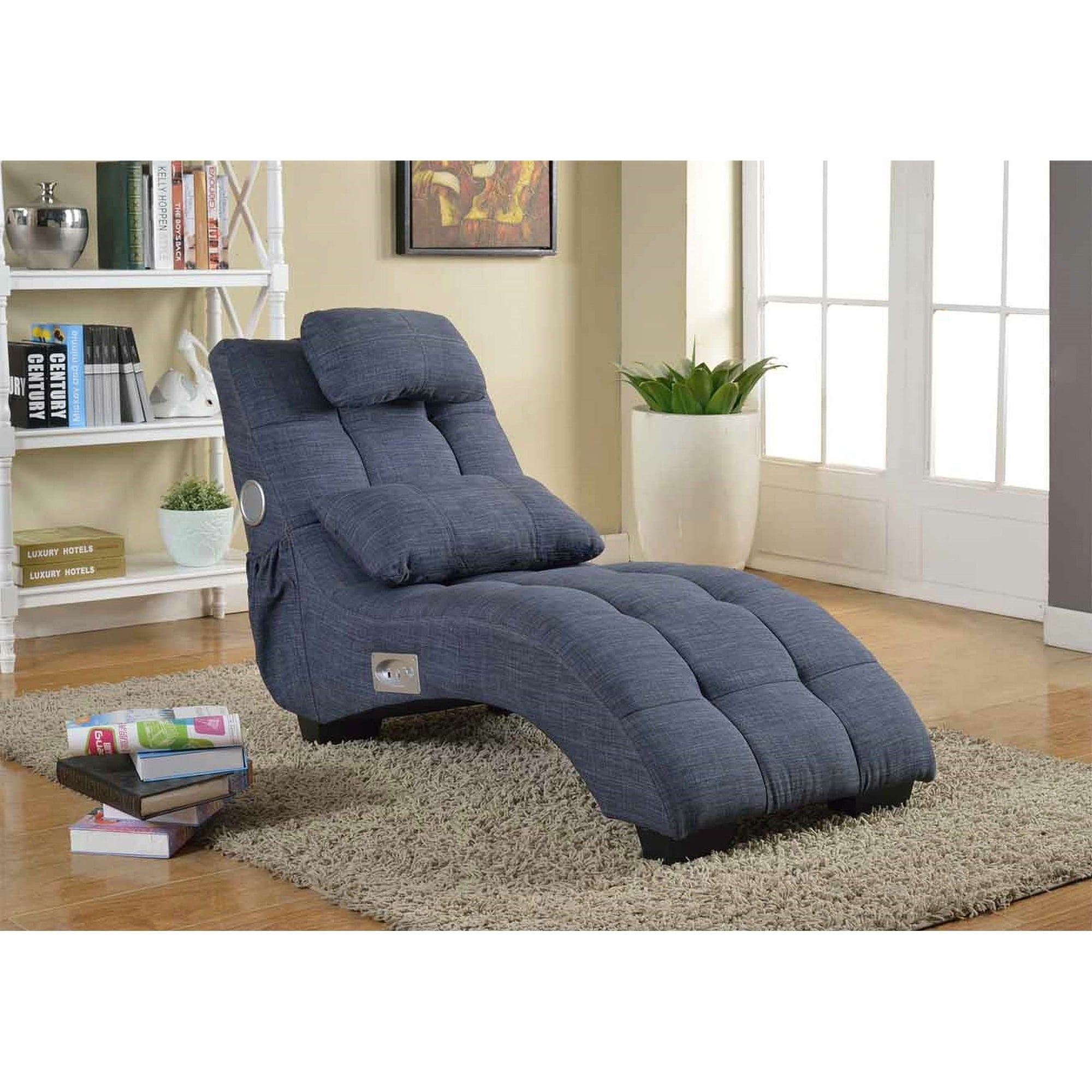 Best Master Furniture Chaise Lounge (Sapphire)