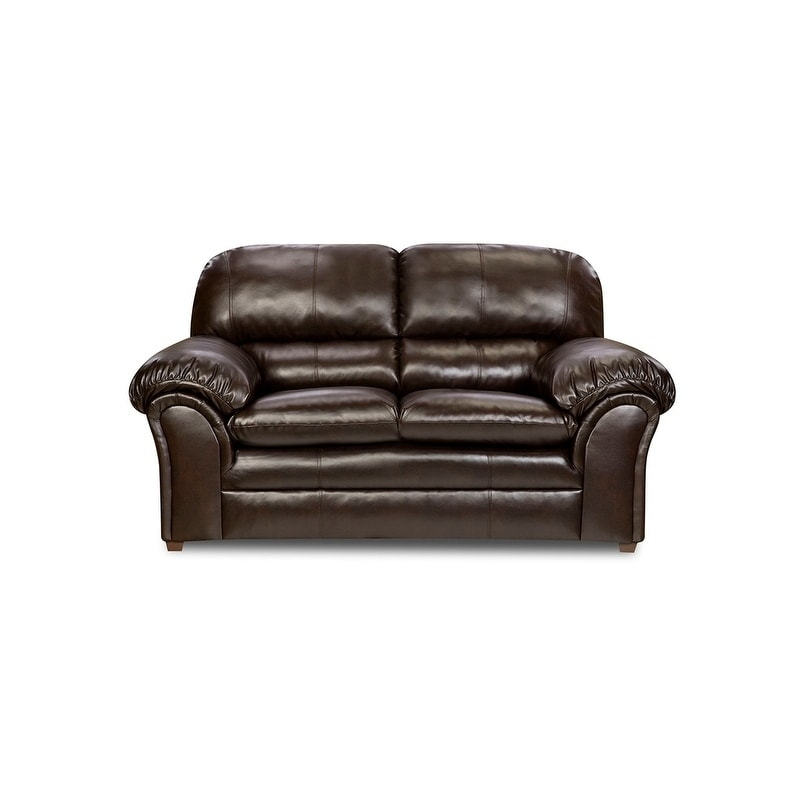 Simmons Upholstery Vintage Riverside Bonded Leather Loveseat