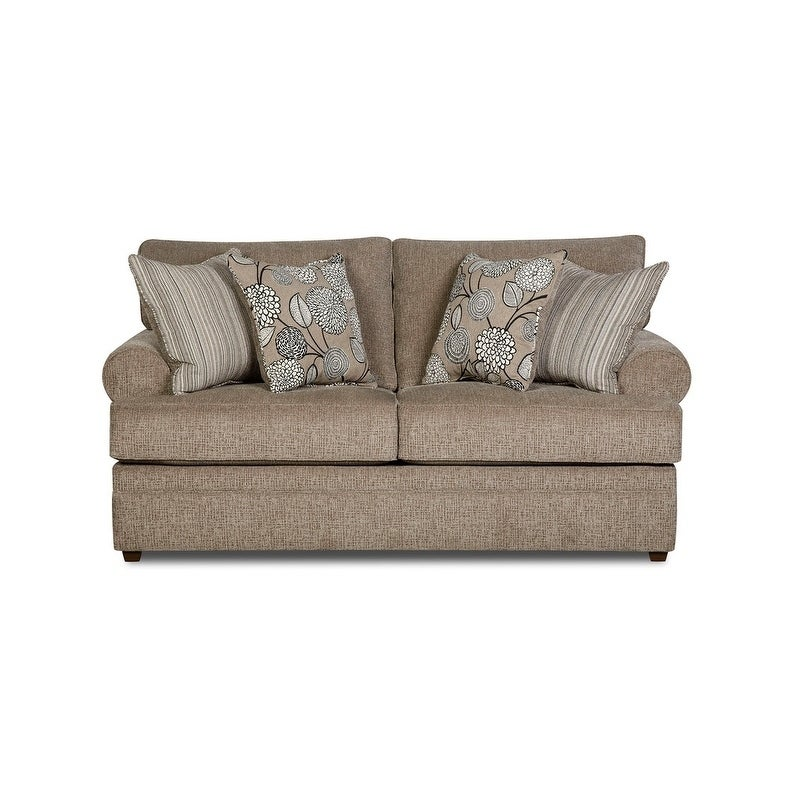 Simmons Upholstery  Macey Pewter Loveseat