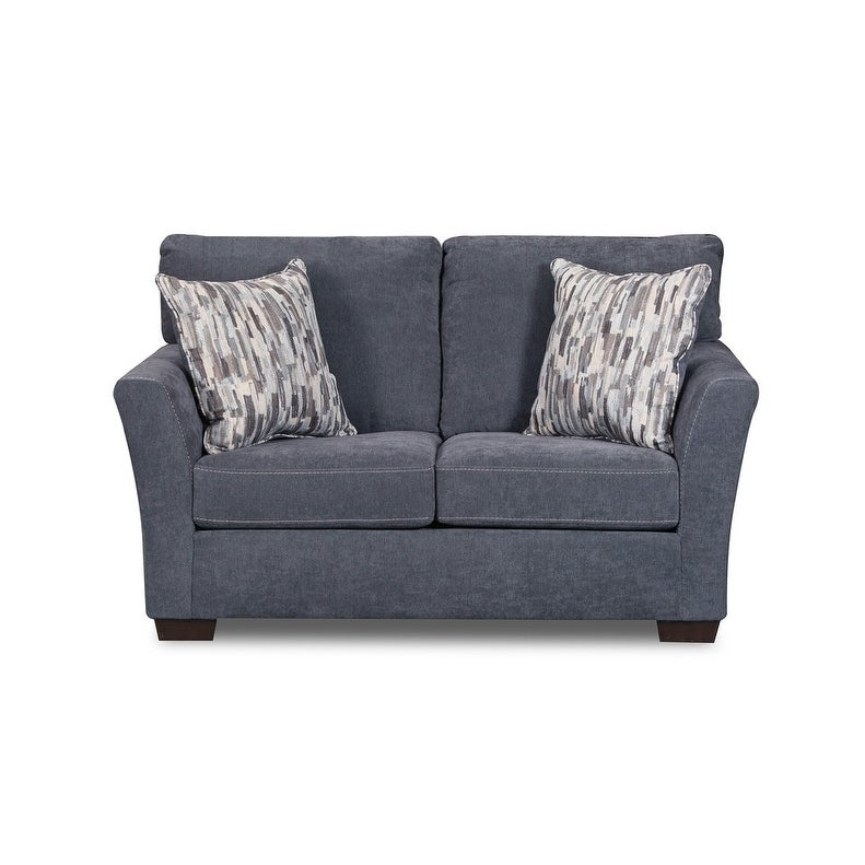 Simmons Upholstery Pacific Steel Loveseat