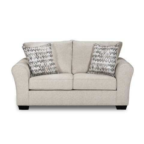 Simmons Upholstery Boston Linen Loveseat