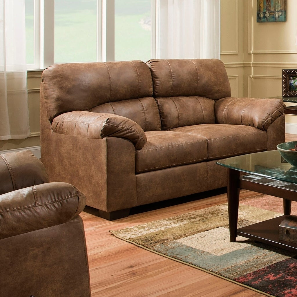 Simmons Upholstery Topgun Saddle Loveseat