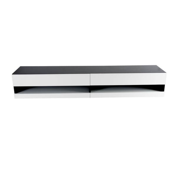 Shop Vigo Black And White High Gloss 2 Drawer Modern Tv Stand Free