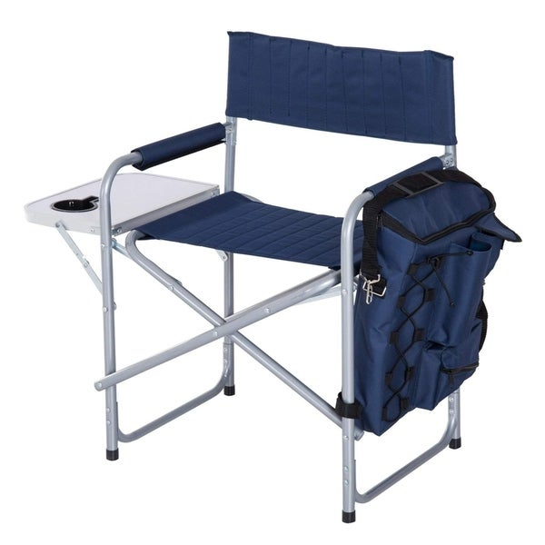 Shop Outsunny Steel Director Folding Camp Chair With Side