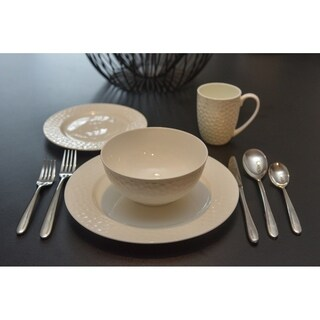 Pebble Beach 16Pc Rimmed Dinner Set