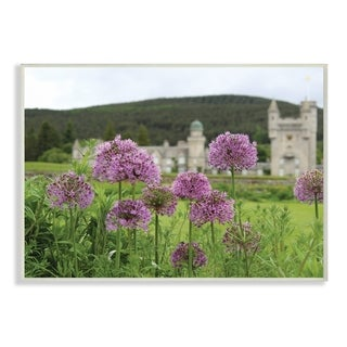 The Stupell Home Decor Collection Royal Castle Purple Flowers Photograph, Wall Plaque, 10 x 0.5 x 15, Made in USA