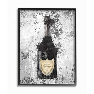 The Stupell Home Decor Collection Champagne Grey Gold Ink Illustration, Framed Giclee, 16 x 1.5 x 20, Made in USA - Multi-color