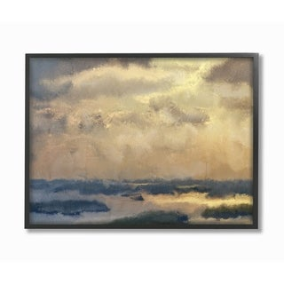 The Stupell Home Decor Collection Painted Neutral Morning Sky Abstract, Framed Giclee, 16 x 1.5 x 20, Made in USA - Multi-color