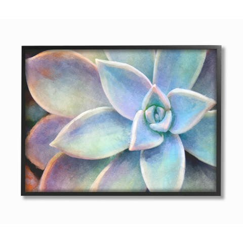 The Stupell Home Decor Collection Succulent Plant Vibrant Bloom Painting, Framed Giclee, 16 x 1.5 x 20, Made in USA