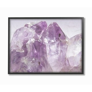 The Stupell Home Decor Collection Amethyst Crystal Mountains Close Up Photograph I, Framed Giclee, 16 x 1.5 x 20, Made in USA