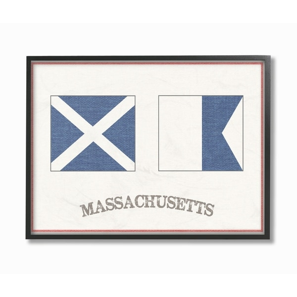 The Stupell Home Decor Collection Red and Blue Nautical Flags ...