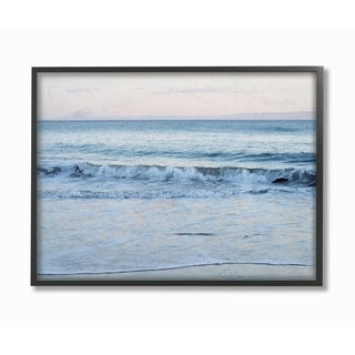 The Stupell Home Decor Collection Coastal Evening Beach Waves Photograph, Framed Giclee, 16 x 1.5 x 20, Made in USA