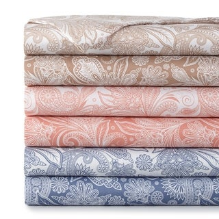 Vilano Deep Pocket Ultra-Soft Perfect Paisley 4-piece Printed Sheet Set