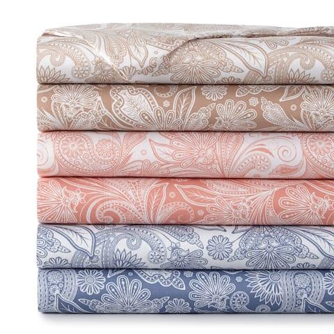 Vilano Deep Pocket Ultra-Soft Perfect Paisley 4-piece Printed Bed Sheet Set