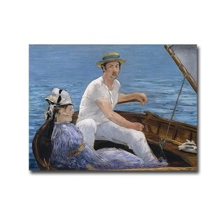 Boating by Edourd Manet Gallery Wrapped Canvas Giclee Art