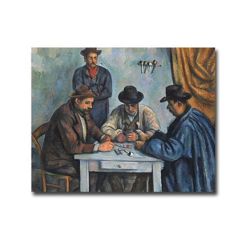 The Card Players by Paul Cezanne Gallery Wrapped Canvas Giclee Art