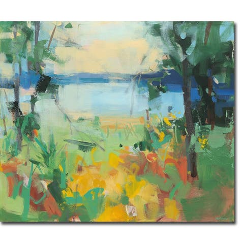 The Bluest Shore by Angela Saxon Gallery Wrapped Canvas Giclee Art