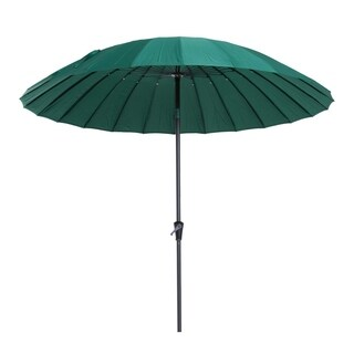 Outsunny 8.5' Aluminum Outdoor Patio Umbrella 24 Ribs with Tilt and Crank - Green