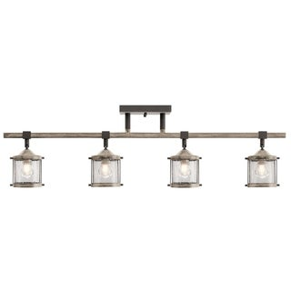 Aztec 4-light Anvil Iron/Distressed Antique Grey Rail/Flush Mount Fixture