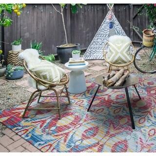 """Paradise Jardin Pink Indoor/Outdoor Area Rug - 7'6"""" x 10'9"""""""