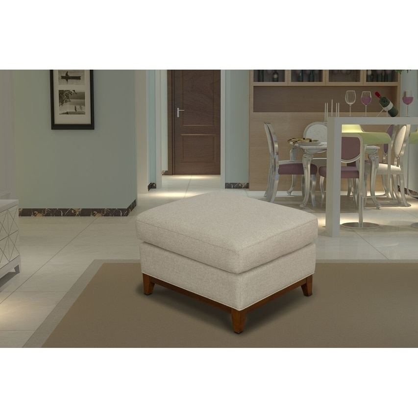 HomePop Brooklyn Large Pillowtop Ottoman - Tan (Tan)