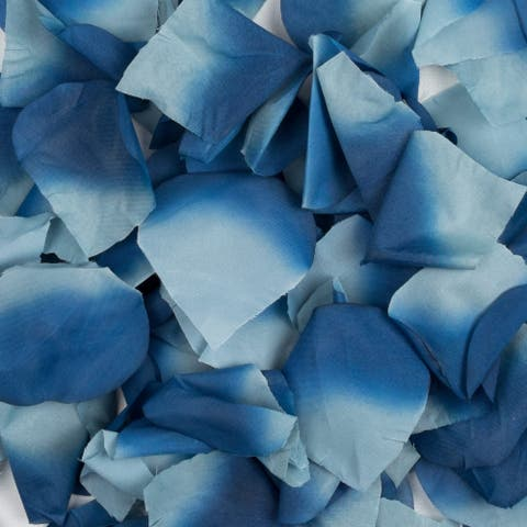 Scented Blue Faux Rose Petals