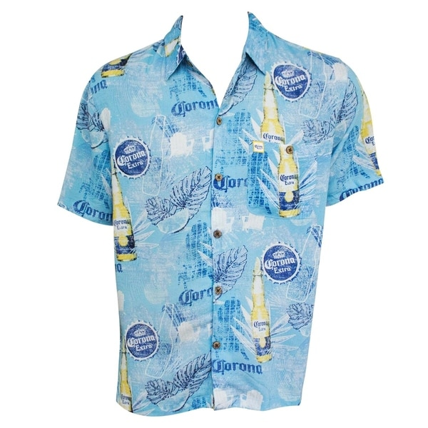 Shop Corona Bottles Short Sleeve Button Up Men S Aloha