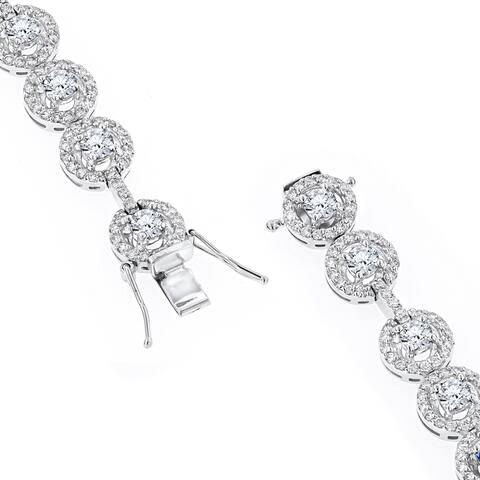 Designer Jewelry: 18K Gold Diamond Bracelet for Women 6ctw G/VS Diamonds by Luxurman