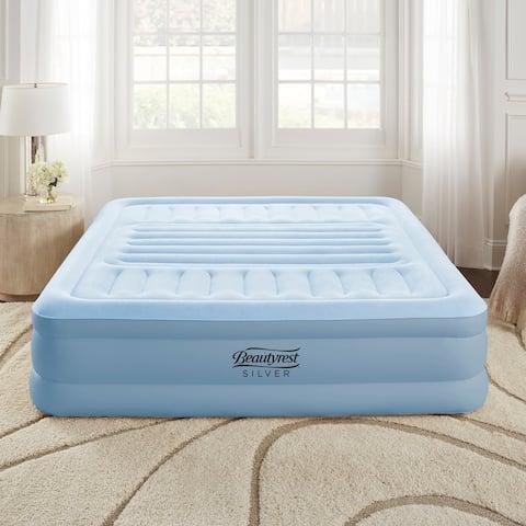 Beautyrest Silver Queen Lumbar Supreme Air Bed Mattress Adjustable Lumbar Support Built in Pump