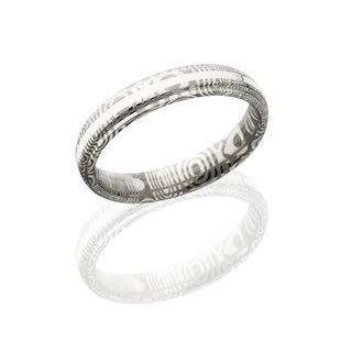 Damascus Steel Wedding Bands USA Made Sterling SIlver Rings Damascus Rings