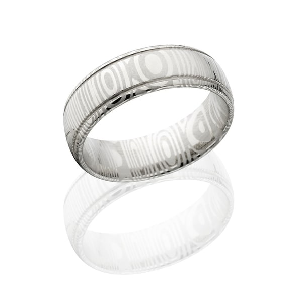 Shop Authentic Damascus Steel Wedding Bands Usa Made Rings Damascus