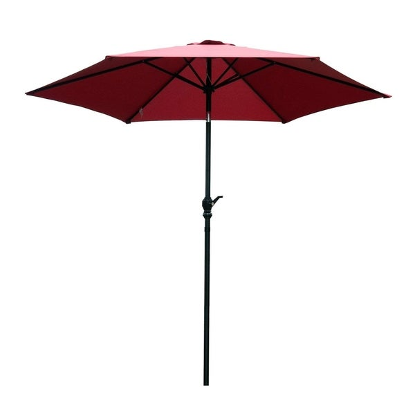 Outsunny 9u0026#x27; Aluminum Patio Umbrella Market Tilt Outdoor Deck Yard  Beach With Crank