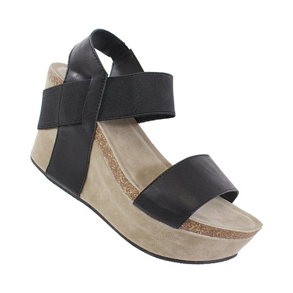 cb1f638f9e28 Shop Yoki-Hestry Women s Strap Footbed Wedge - Free Shipping On Orders Over   45 - Overstock - 22366840