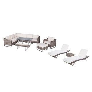 Manarola Sectional and Dining Set (13-Piece Sets)