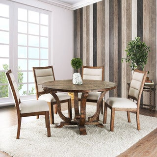 Furniture of America Tannen Rustic Round 52-inch Dining Table
