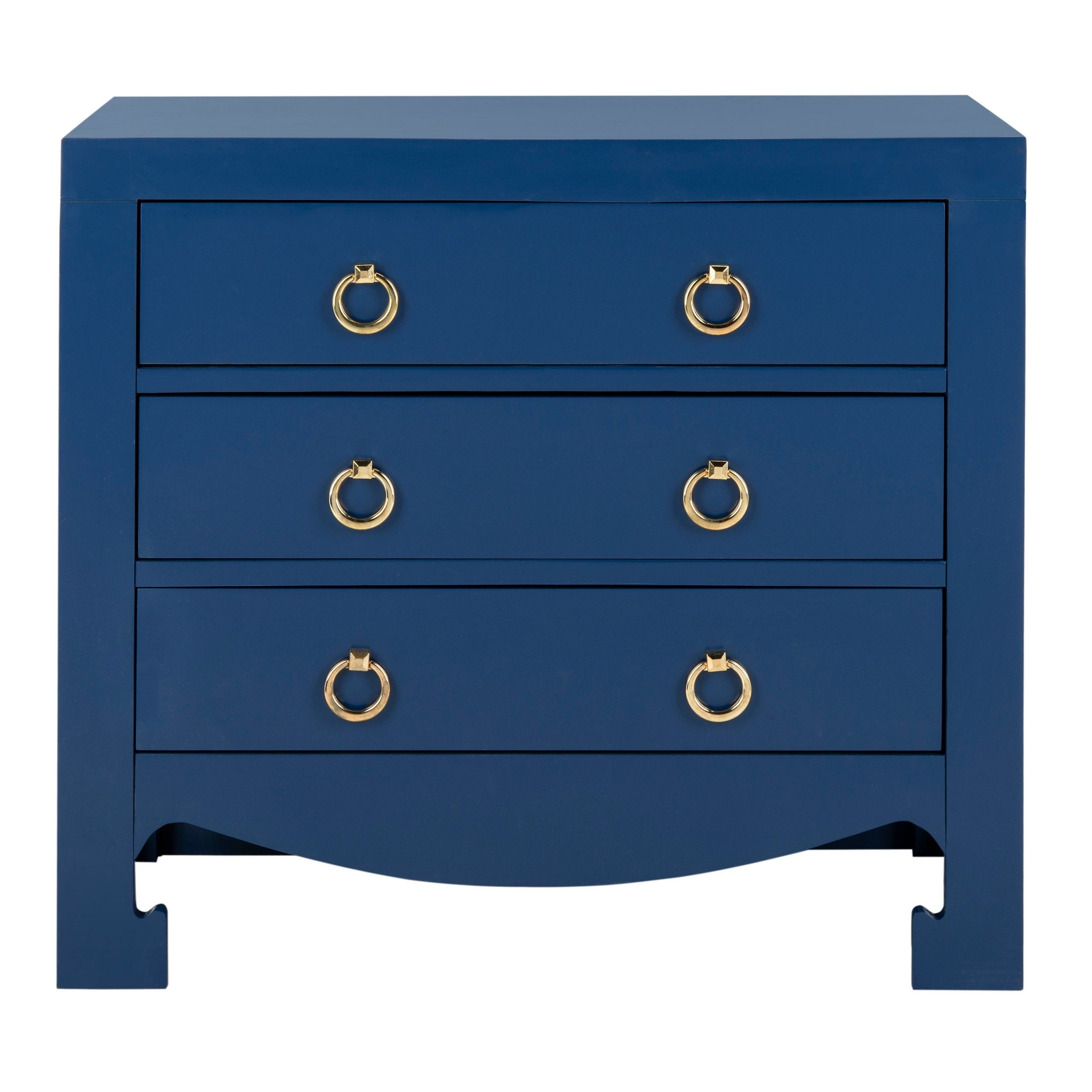 Safavieh Dion 3 Drawer Chest - Lapis Blue / Gold