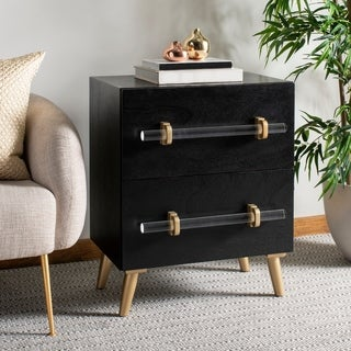 Safavieh Sienne 2 Drawer Nightstand - Black / Gold