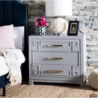 Safavieh Raina 3 Drawer Chest - Grey / Gold