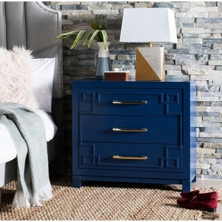 Safavieh Raina 3 Drawer Chest - Lapis Blue / Gold