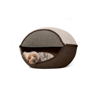FurHaven Felt Cubby Two-Color Round Pet Bed
