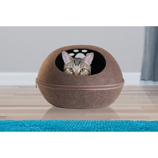 FurHaven Felt Cubby Small Oval Paw Cutout Pet Bed