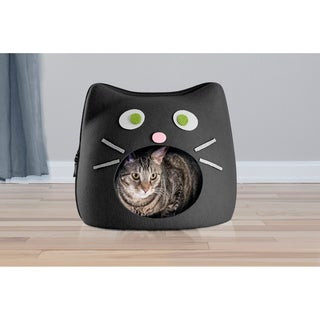 FurHaven Felt Cubby Cat Shape Cut-Out Pet Bed