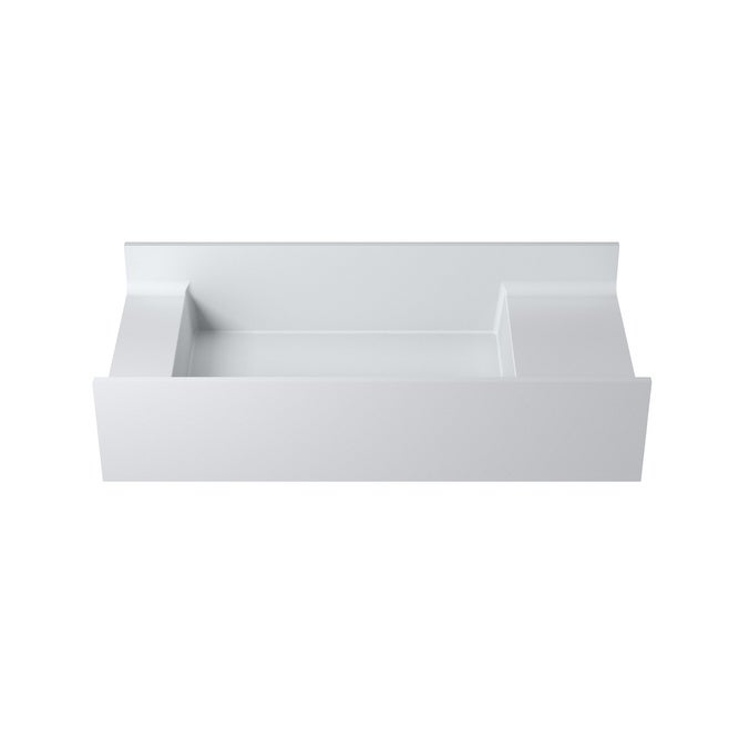 31Polystone Rectangular Wall-Mount Sink in Glossy or Matte White Finish-No Faucet (ws-ws-v67-m - Matte)